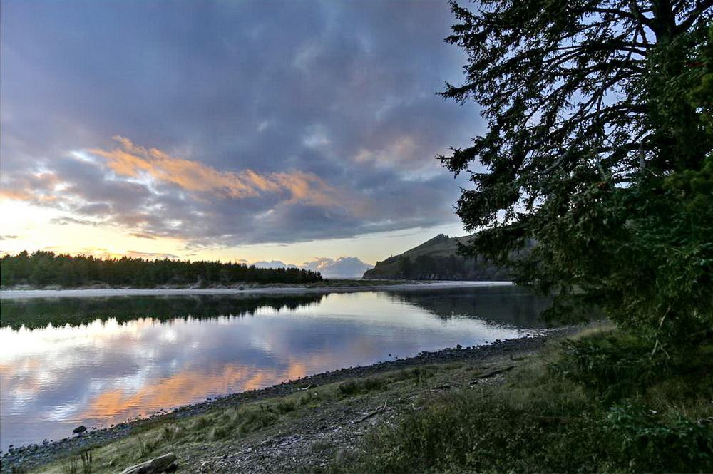 Salmon River estuary at twilight.\Photo by Jack Doyle.