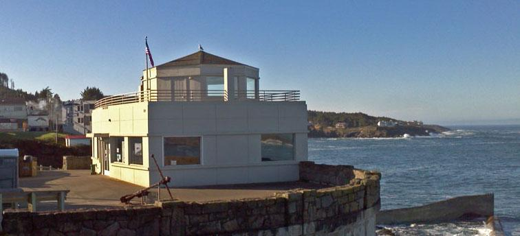 Photo of Depoe Bay Whale Watching Center, courtesy of OPRD.