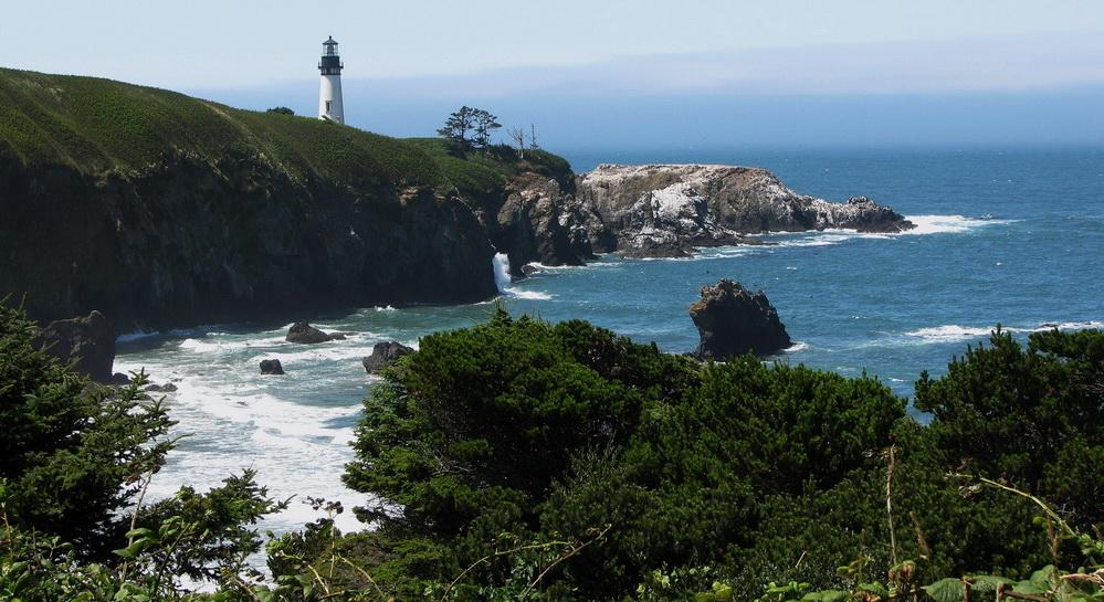 Yaquina Head viewed from the north.\Photo by Sonja Peterson.