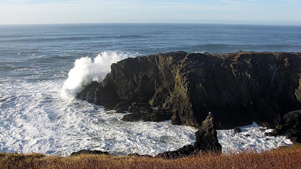 Gazing out to sea from Yaquina Head. Photo by Alex Derr.