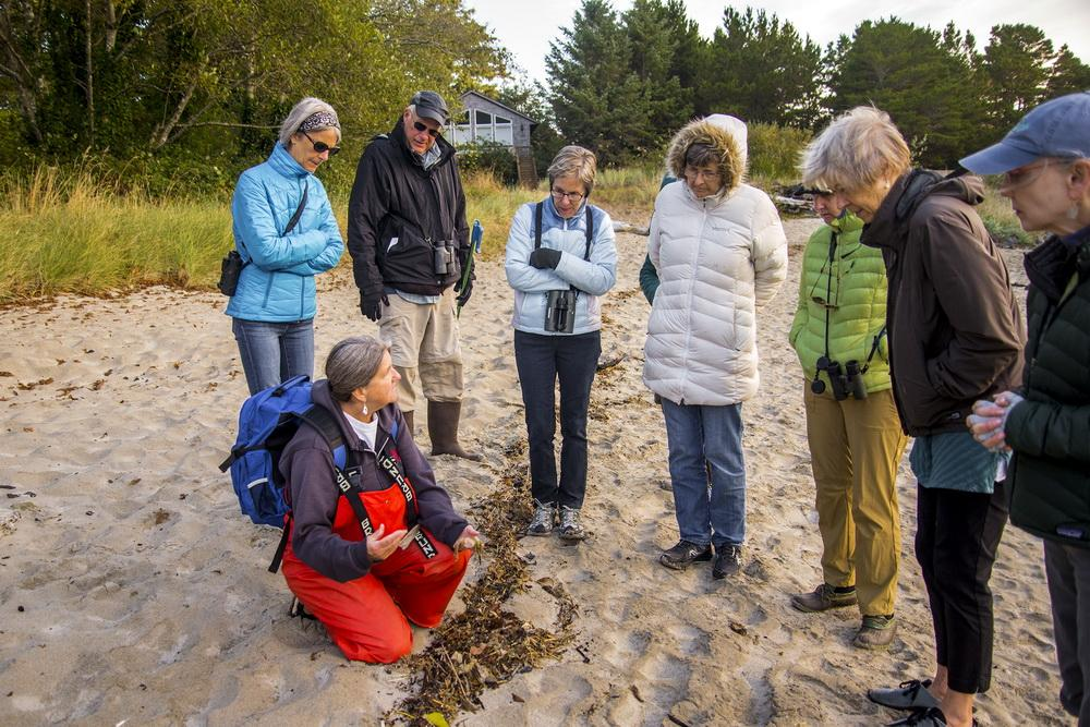 Fawn Custer leading recent training session in Neskowin.\Photo by Dennis White.