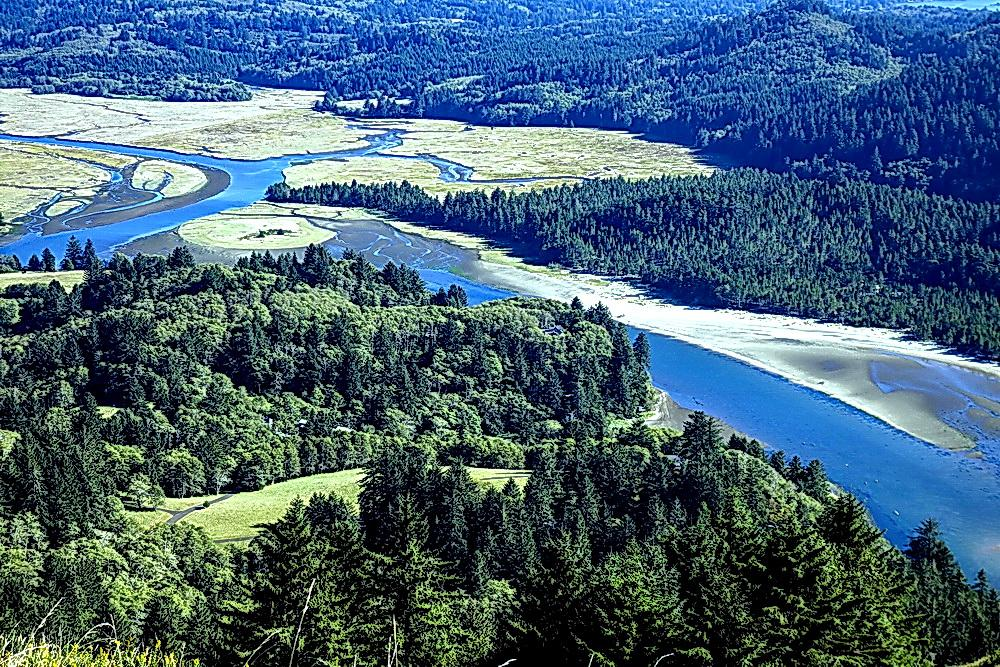 Salmon River estuary.\Photo by Dennis White.