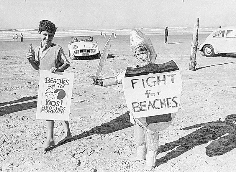 A rally for Bob Straub's Beaches Forever campaign.