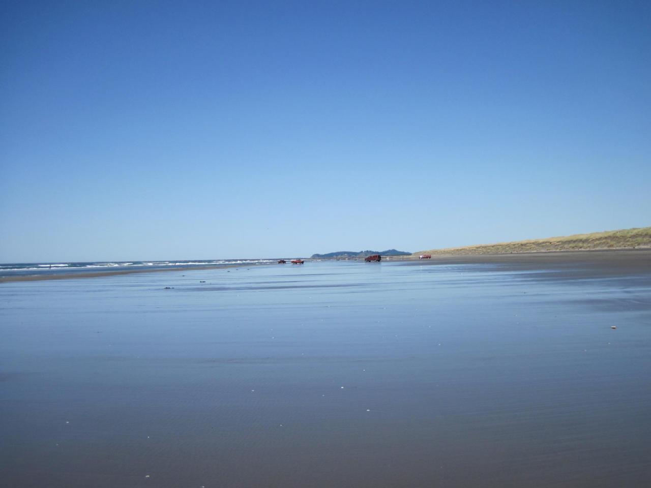 Calm day on beach.