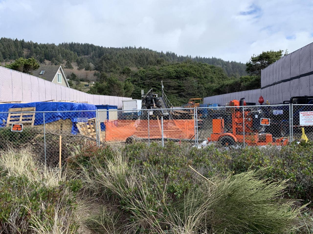 Facebook drilling project, Tierra del Mar Oregon 3/13/20