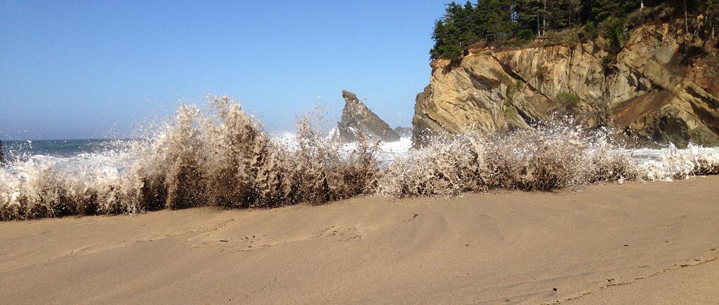 King Tide approaching.  Photo by Sally Woodman.