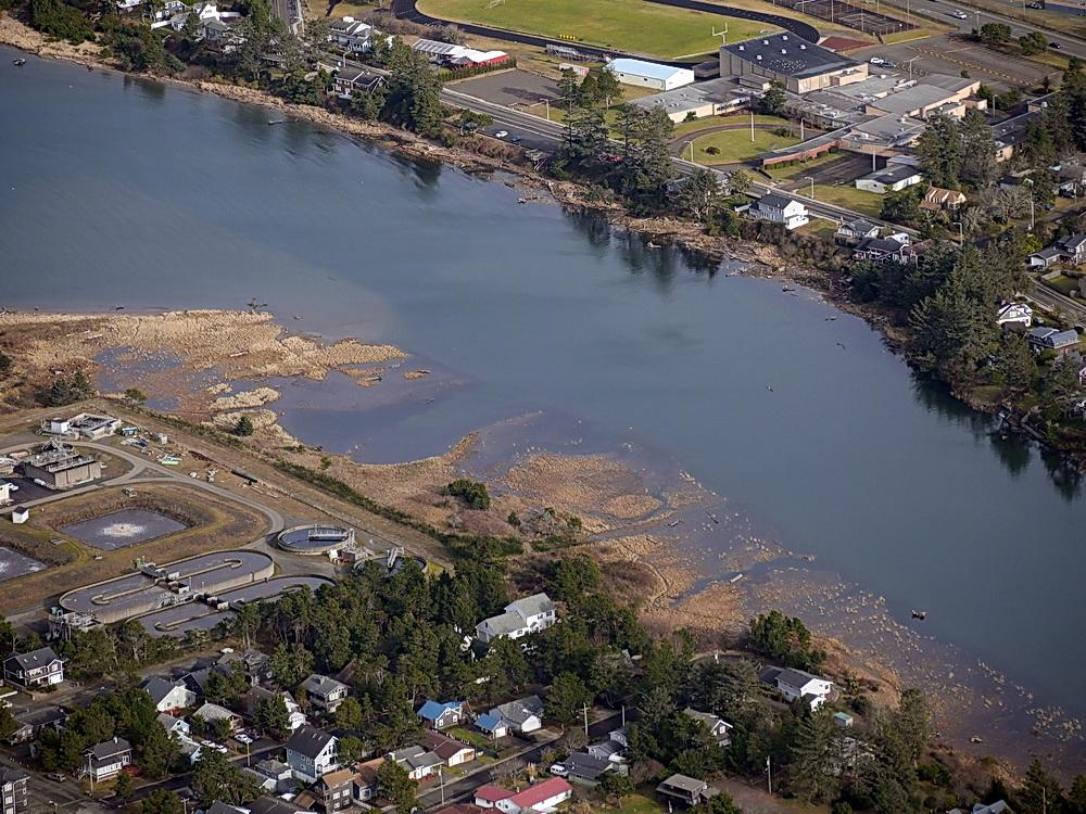 King Tide fills marshes in Seaside. Photo by John Bauer.