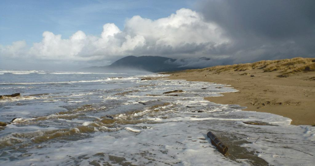 King Tide on the Nehalem spit. Photo by Steve Morey.