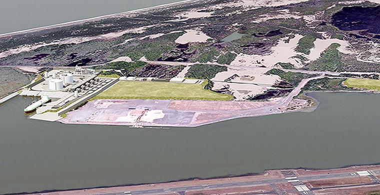 Proposed Jordan Cove LNG terminal, artist's concept.\Photo courtesy of JCEP.