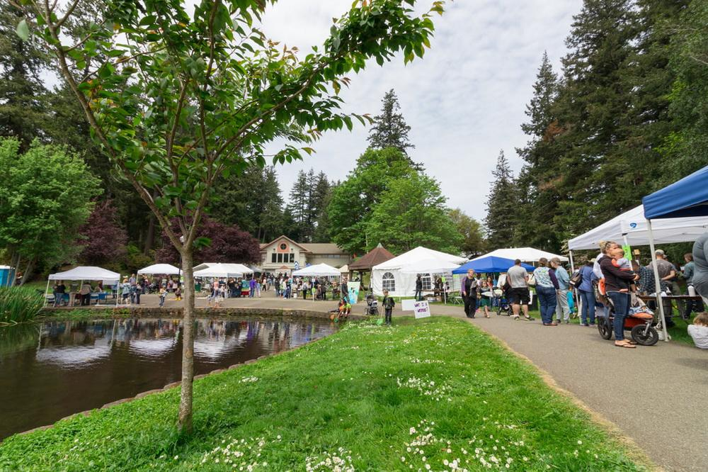 Last year's Mayfly Festival in progress.\Photo courtesy of Coos Watershed Assn.