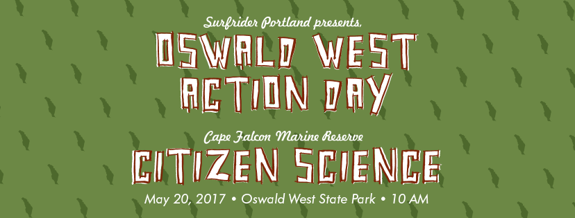 Image of Surfrider Portand's Oswald West Action Day - Citizen Science Extravaganza flyer.