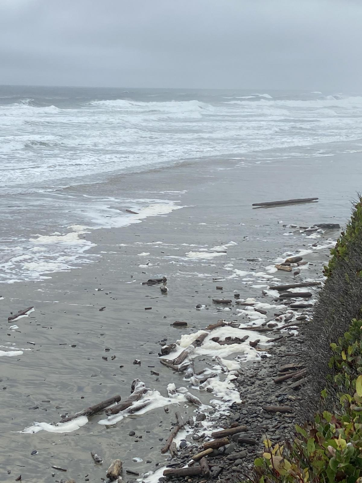 Ocean Beach from the parking lot during King Tide