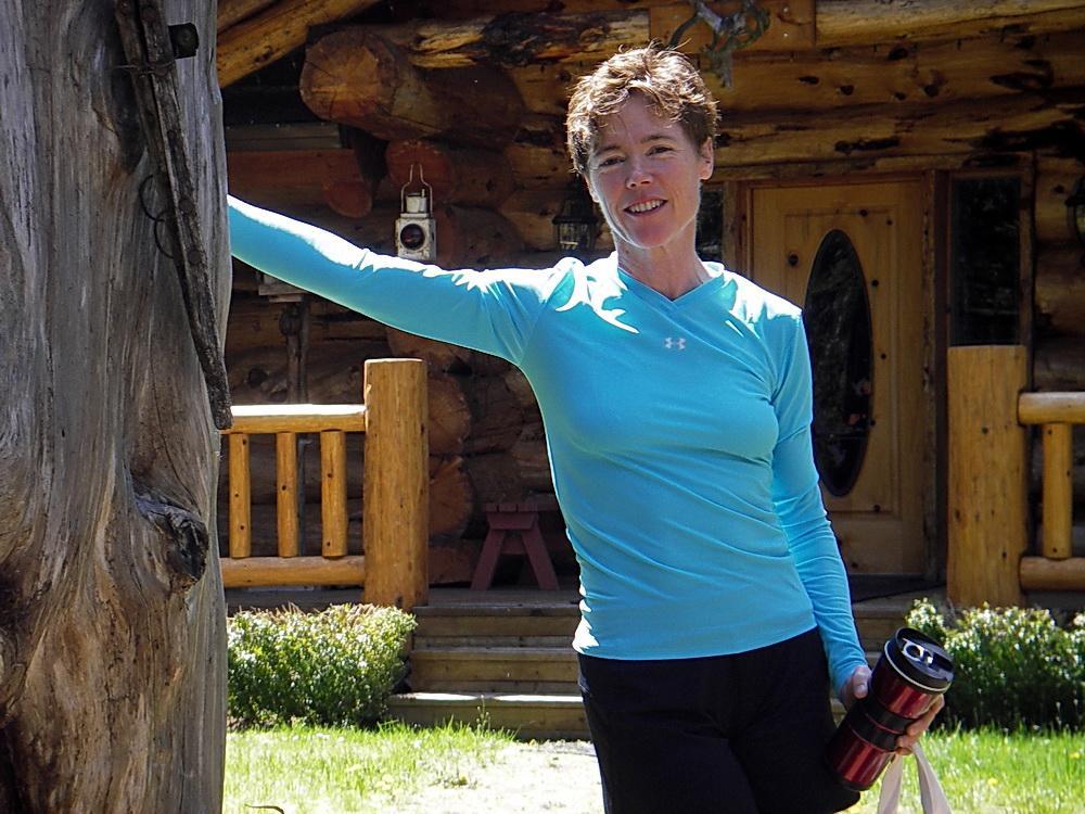 Jill Josselyn, at her mountain cabin.