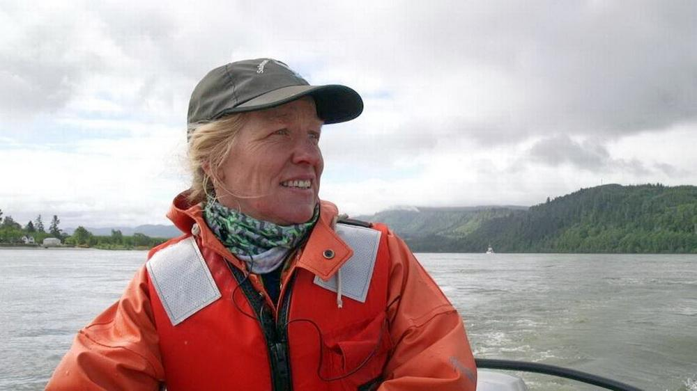 Salmon biologist Laurie Weitkamp.
