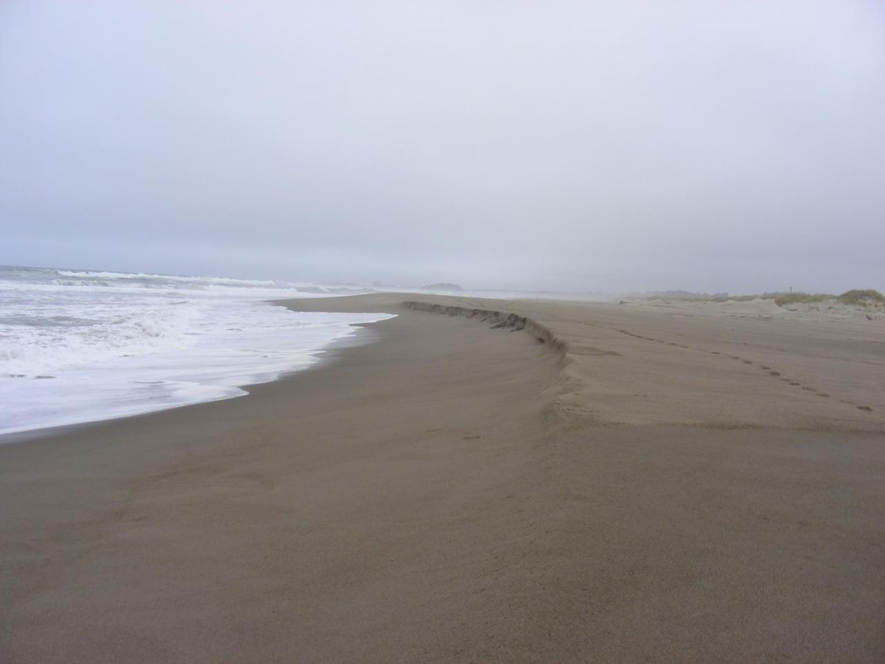 This shows how the ocean is cutting into the sand with a strong riptide embayment on Mile 97.