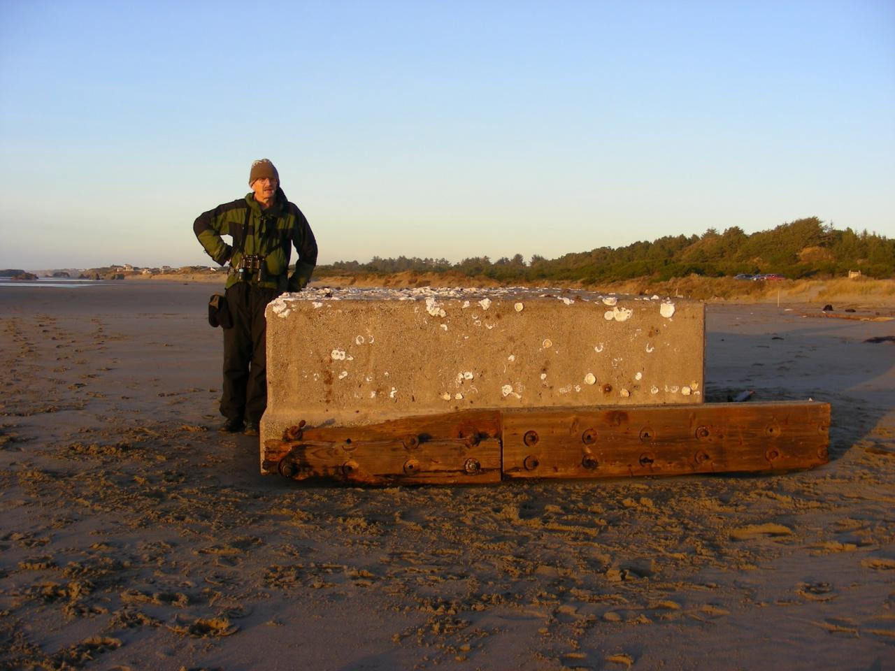 This picture was taken on 1/11/09 after Barbara Harrison reported this dock and another large cement tank on Mile 96.