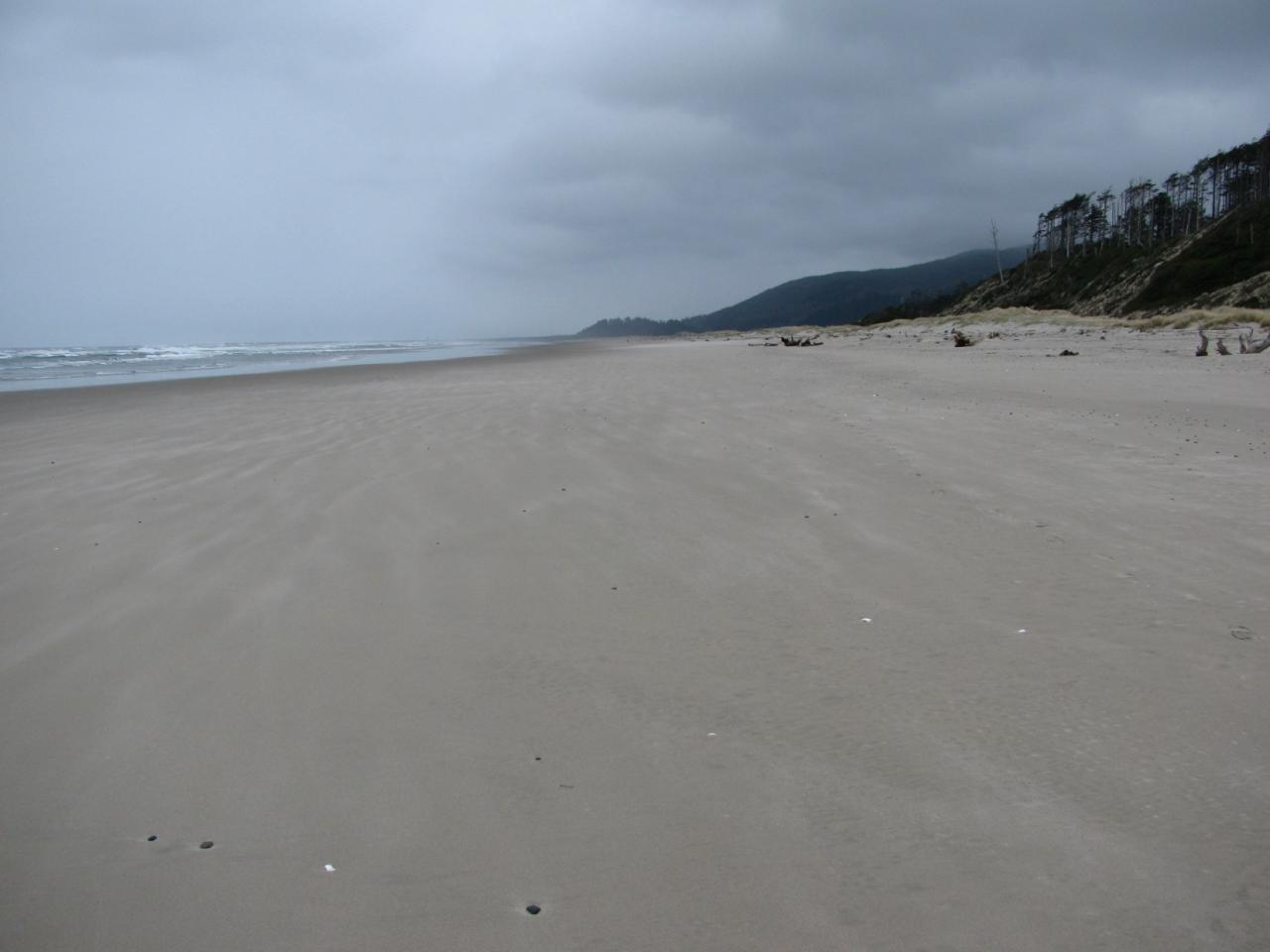 Taken from mile 287, view looking north toward south jetty of Tillamook Bay.