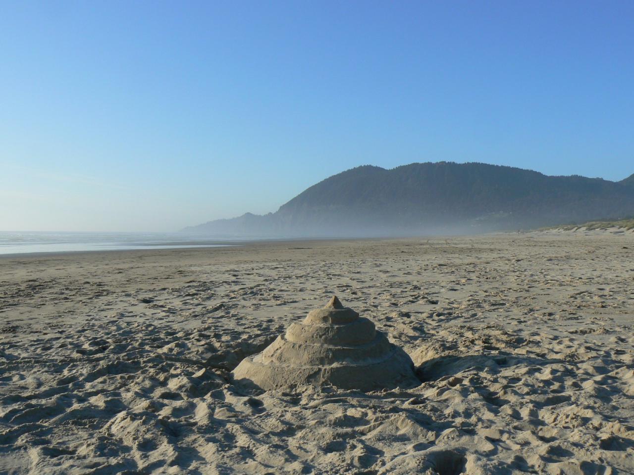 Manzanita Beach looking toward NeaKahNie Mountain and Cape Falcon