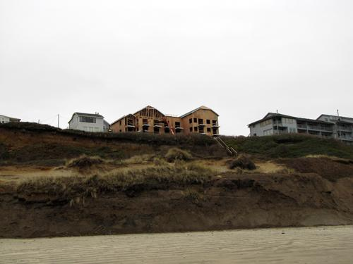 Construction continues on the condominiums that are replacing the rustic Vikings Motel cottages near the north end of Nye Beach