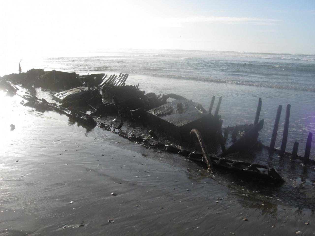 Wreck of Helen E a WII subchaser grounded and burned in 1951