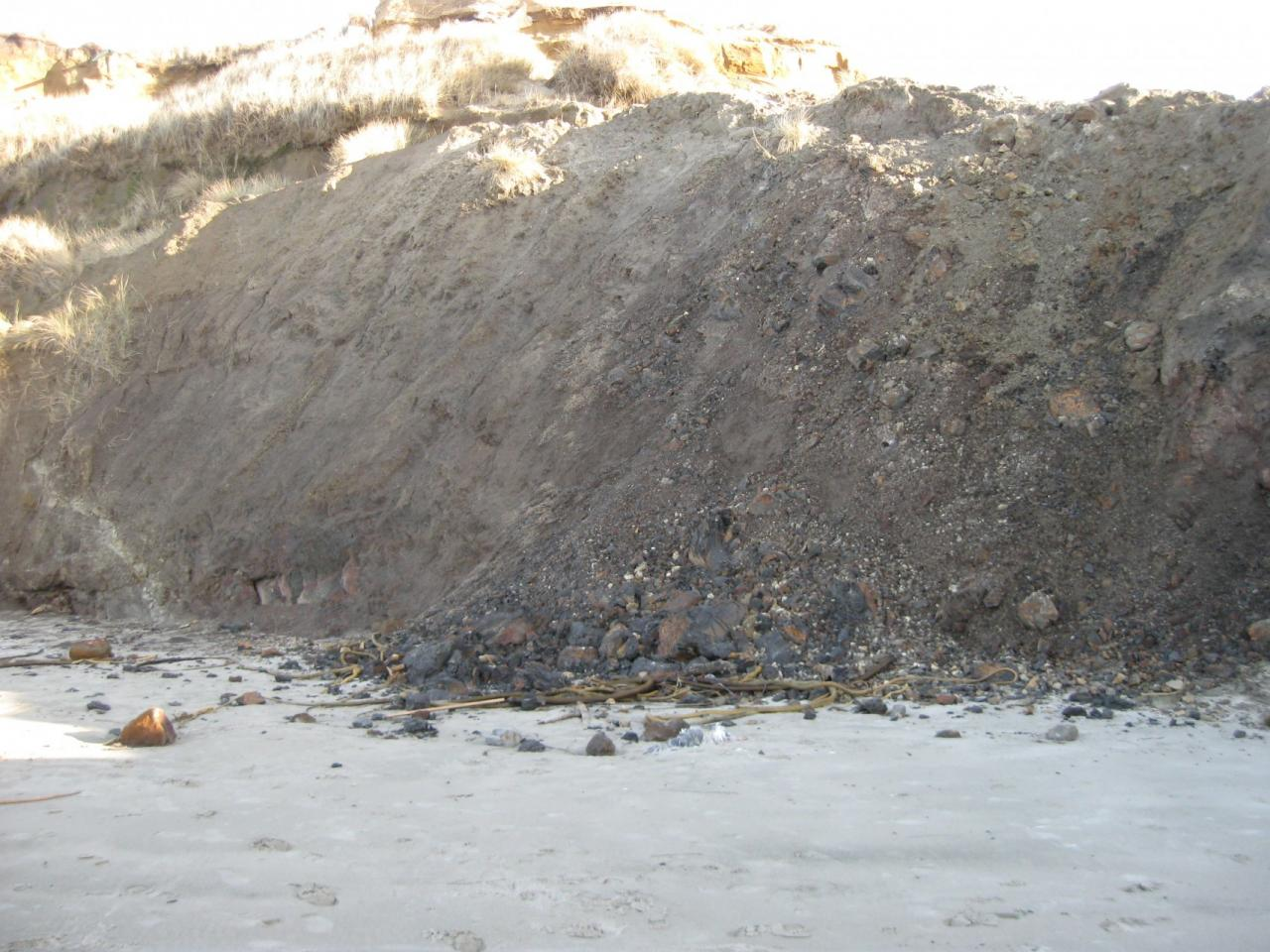 Photo of new erosion at Jump Off Joe