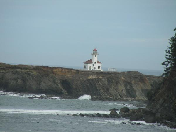 Cape Arago Lighthouse as viewed from the south.