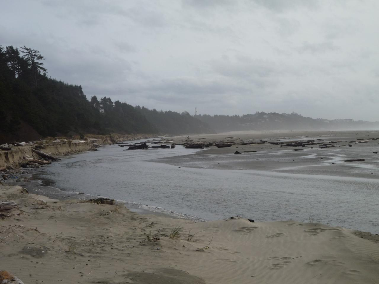 photo of mile 18 looking south from near the Lucky Gap access/looking towards Agate Beach wayside, around 3pm.