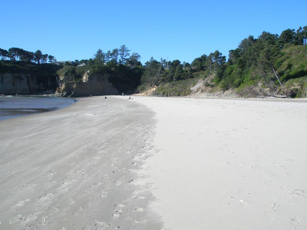 beach  to south of Devil's Punchbowl