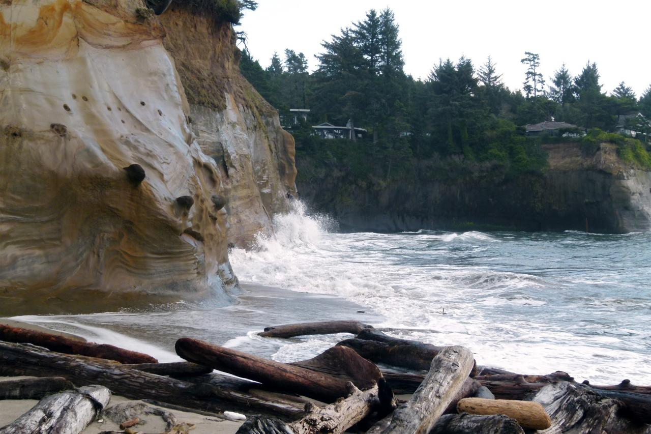 Photo taken at 11:44 am, facing ESE from the north beach section of Whale Cove.