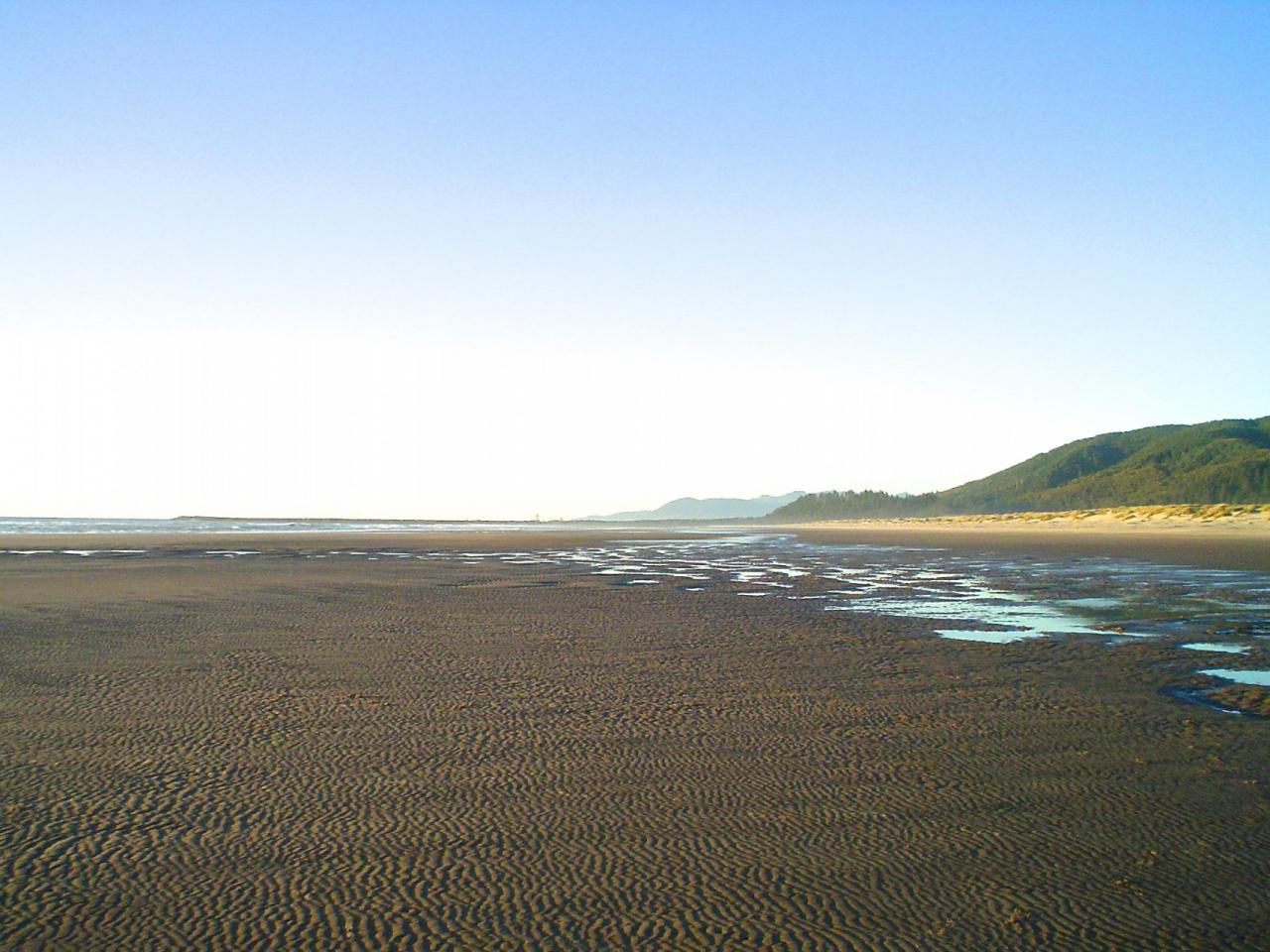 Fall equinox on the south end of Mile 289 looking to the south jetty of Tillamook Bay.