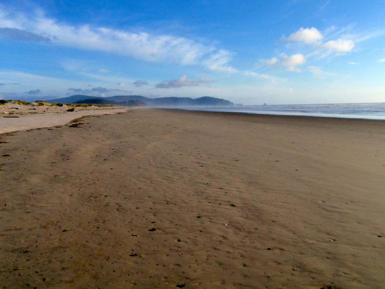 Cape Meares as seen from the south jetty area of Tillamook Bay,  Mile 289.