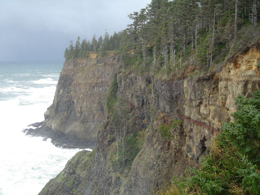 This photo was taken from the north view point at Cape Meares Sate Park.