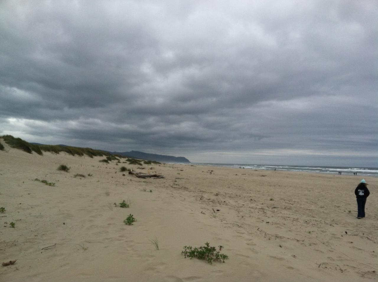 Warm, but cloudy, overcast day on the Bayshore near Waldport, OR.