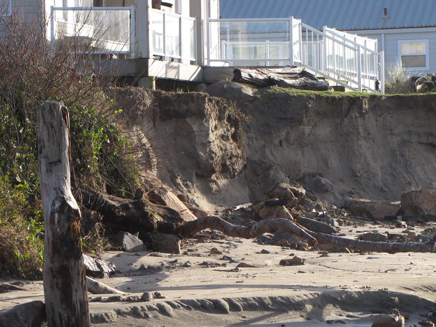 More erosion of vacation rental property after a week of storm waves and high winds and tons of rain.