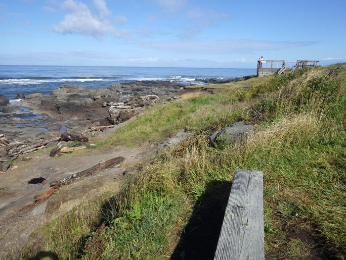 Looking north toward overlook at Yachats State Park.