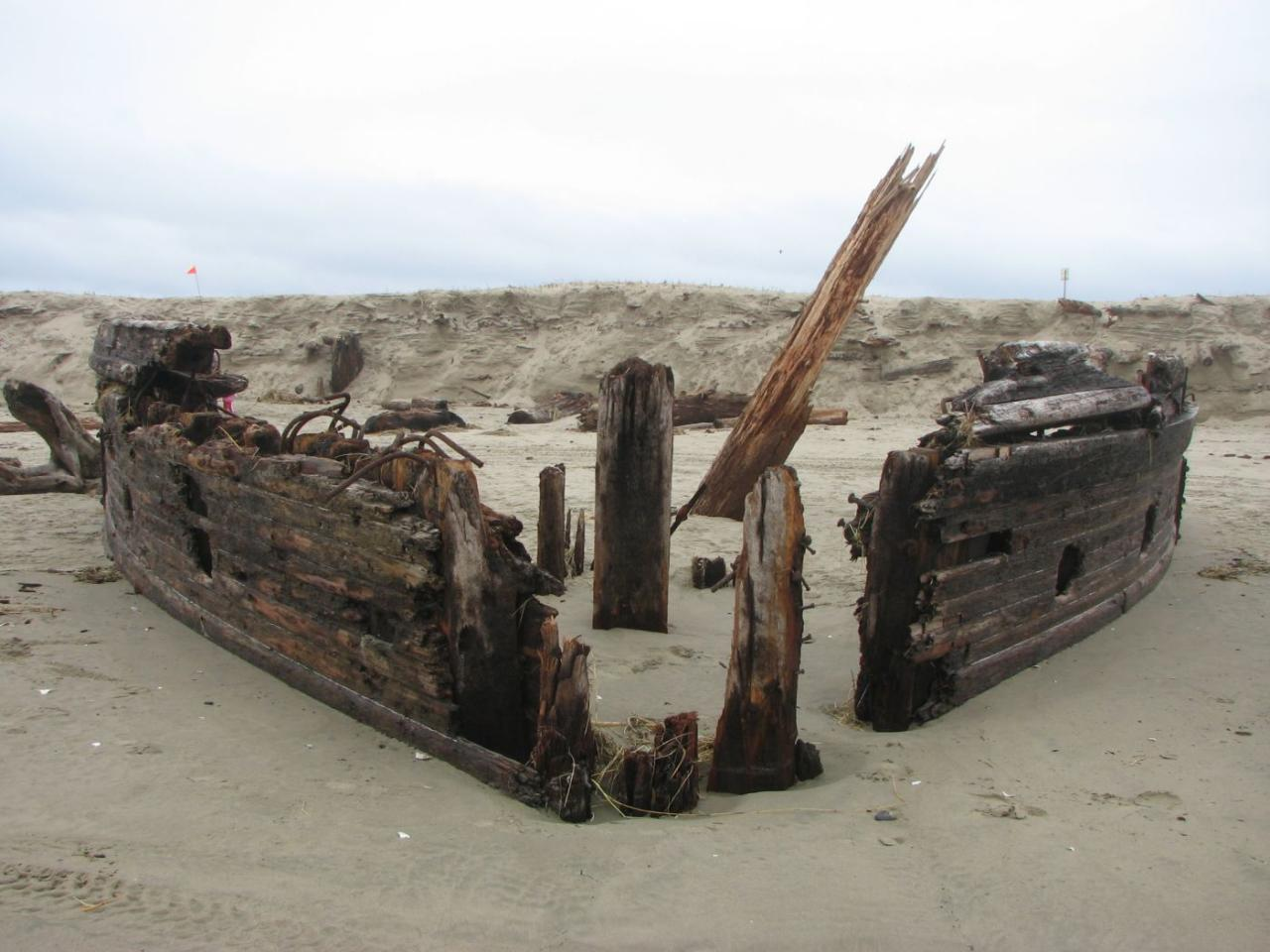 View of the bow of the George L. Olson wreck