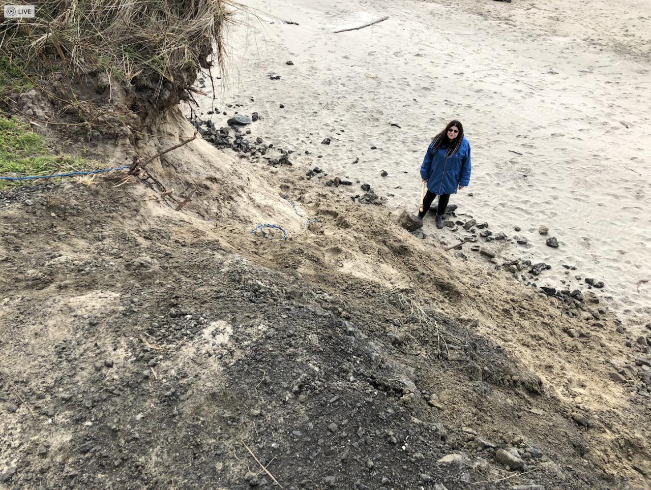 Wakonda Beach beach access erosion from King Tides