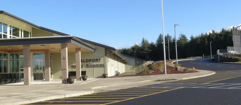 Waldport High School, Photo by Sara Schreiber.