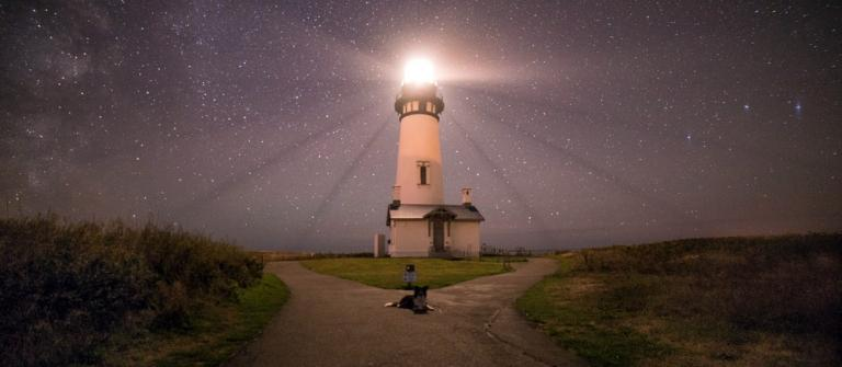 Yaquina Head lighthouse, near Newport, uses energy--let's keep it clean.\Photo by Justin Knott.