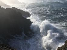 Wave action at Indian Sands cliffs, Mile 14 Oregon Coast Trail