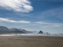 Haystack Rock from North Chapman Beach.