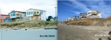 Comparison of embankment north of Wakonda Beach access - 01/20/2010/03/20/2019