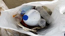 Trash from beach.