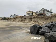 Significant embankment loss north of 2019 armoring project