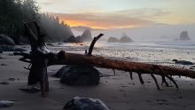 Sunrise over Port Orford Beach