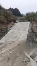 New walkway onto the beach