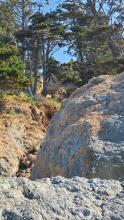 Depth of Landslide at mid-point Battle Rock Beach