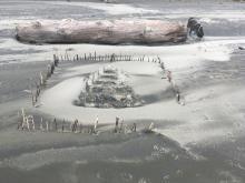 Nice sand beach fort