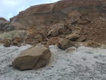 Landslide, erosion