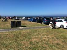 Roads end state park parking lot full